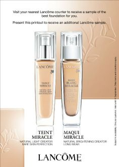 Lancome Foundation -  One must always lay a good foundation.