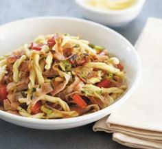 Ham and Courgette Pasta