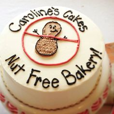 Caroline's Cakes is a completely Nut Free Bakery! #allergyfree