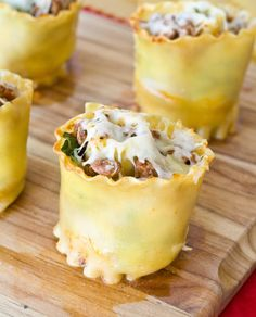 Rolled Lasagna Cups