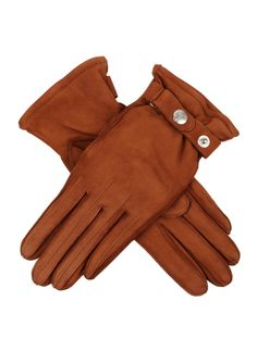 17-1220 Women's Heritage nubuck deerskin leather glove, with a fastening at the cuff that is styled with a Dents dome. Perfect for a country walk in the great outdoors.
