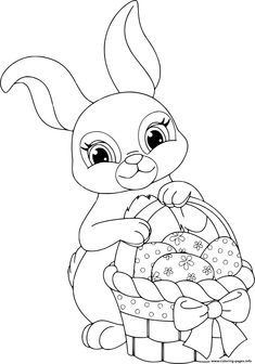 Easter Bunny Coloring Pages . 30 Easter Bunny Coloring Pages . Free Printable Easter Bunny Coloring Pages for Kids Free Easter Coloring Pages, Earth Day Coloring Pages, Easter Bunny Colouring, Bunny Coloring Pages, Tree Coloring Page, Unicorn Coloring Pages, Coloring Books, Basket Drawing, Bunny Drawing