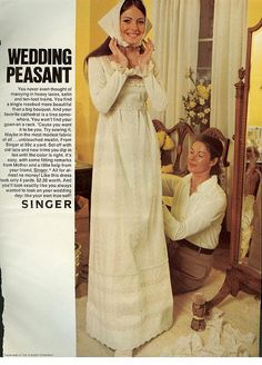 From Mademoiselle, February 1971 the encouraged wedding look of the decade.