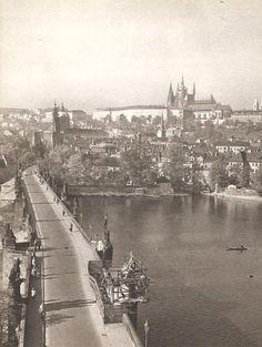 Prague, Charles Bridge by Karel Ješátko, mid 60's