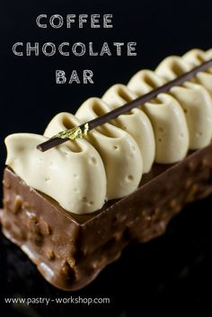 This coffee chocolate bar is adapted after Antonio Bachour and it's the creamiest, most delicious chocolate coffee dessert ever made! Coffee Dessert, Fancy Desserts, Chocolate Coffee, Delicious Chocolate, Food Processor Recipes, Sweet Tooth, Sweet Treats, Dessert Recipes, Cupcakes