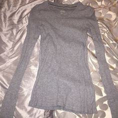 Selling this Gray Thermal Shirt in my Poshmark closet! My username is: kiy91. #shopmycloset #poshmark #fashion #shopping #style #forsale #aerie #Tops