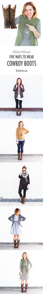 How to Wear Cowboy Boots 5 Ways!