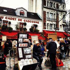 Place du Tertre in Paris, Île-de-France