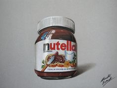 Watch on Youtube how I draw this glass jar of Nutella http://youtu.be/GTTLuLPNWlg (HD video)