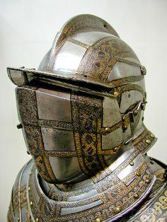 Ceremonial Plate Armour Metropolitan Museum of Art, New York. Knight In Shining Armor, Knight Armor, Medieval Knight, Medieval Armor, Arm Armor, Body Armor, Costume Armour, Armadura Medieval, Military Armor