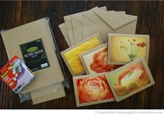 make cards from photos ... (a packet of five makes a perfect teacher gift!)