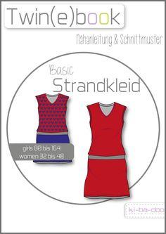 Twin(e)book Basic Strandkleid - Schnittmuster und Anleitung als PDF, versandkostenfrei