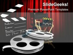 Movies Director Entertainment PowerPoint Templates And PowerPoint Backgrounds 0311  Presentation Themes and Graphics Slide01