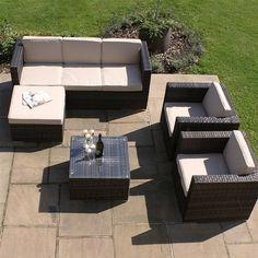 Maze Rattan Georgia Rattan Garden Sofa Set
