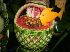 Arte con Verduras y Frutas.