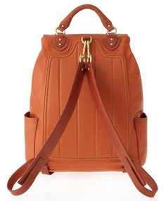 Marc-Jacobs-Cow-Orange-Leather-Backpack-2