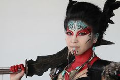Female Warrior Fashion and Makeup Inspiration