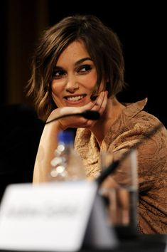 """Keira Knightley Photo at a press conference of """"Never Let Me Go"""""""