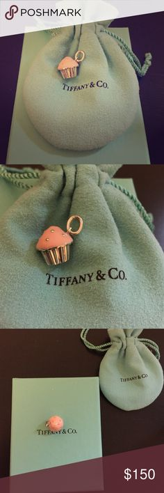 Tiffany & Co. Cupcake Charm Lovely pink and sterling silver cupcake shaped charm. Lightweight, adorable, classic style that is no longer sold in store. Purchased from the 5th Ave NYC Tiffany & Co. store! Tiffany & Co. Jewelry Necklaces