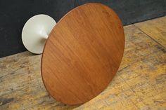 Eero Saarinen Walnut Knoll Tulip Side Table by BrainWashington