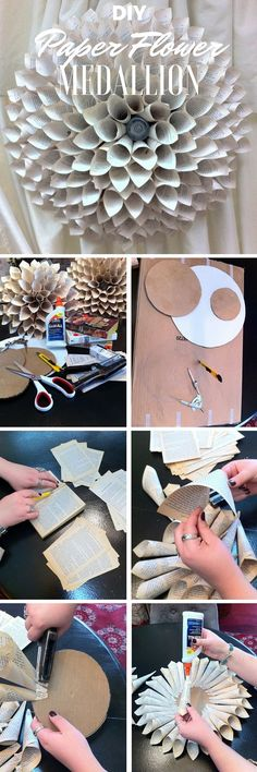 Check out the tutorial: #DIY Paper Flower Medallion @istanddarddesign