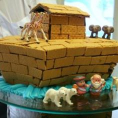 Noah's Ark Twin baby shower idea- awesome cake!!