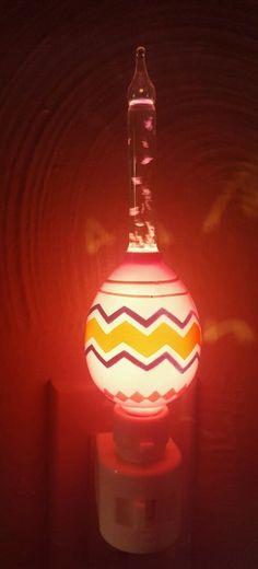 Roman Lights Easter Egg Bubble Night Light  Spring Egg Swivel Plug