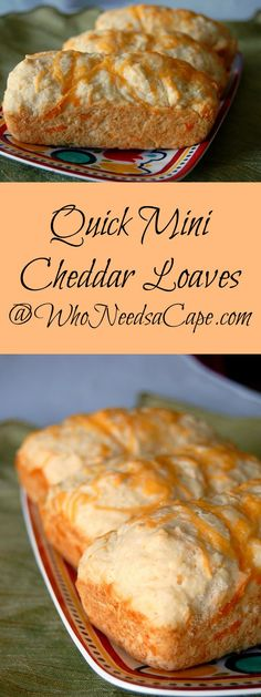 Quick Mini Cheddar Loaves collage
