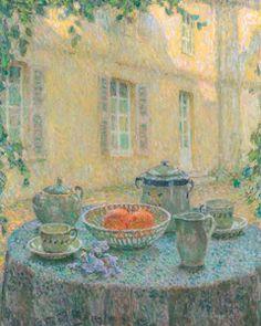 Henri Le Sidaner (French, 1862-1939), La Nappe Bleue (The Blue Tablecloth) 1925