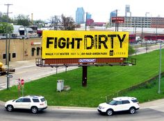 20 Liters Walk For Water Fight Dirty Billboard created by Extra Credit Projects. Timothy Goodman, 20 Liters, Water Fight, Business Card Design, Business Cards, Extra Credit, Design Competitions, Print Magazine, Award Winner