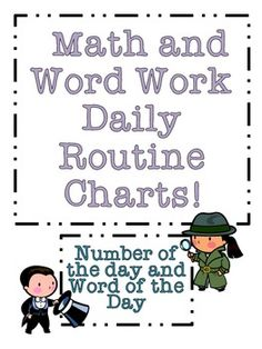Such a cute FREEBIE for daily word work and number of the day. -I love the word a day for morning work!!