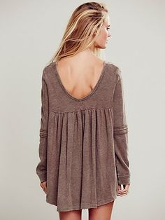 Low Back Shirred Pullover