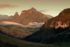 Cathedral Peak is a mountain in KwaZulu-Natal, South Africa. It is a 3,004 m high free standing mountain in the Drakensberg. The mountain is also known as Mponjwana by the local Amangwane people