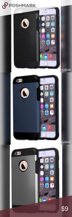 iPhone 6/6s/7 Shockproof Protective Case • Quality: Guaranteed  • Style: Fashion Case • Function: Fashionable and Protective  • Condition: 100% Brand New  • Material: Plastic and Rubber Accessories Phone Cases