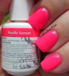 Beautiful Neons!  this color is called! Pacific Sunset by Gelish