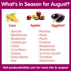 What's in Season for August? | Produce For Kids