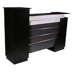 Monroe Reception Desk 72″ Black - $765 ,  https://www.ebuynails.com/shop/monroe-reception-desk-72-black/  #furniture #spasalon #spafurniture #nailtable #salonfurniture #nailsalon