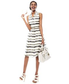 Daytime Pick: The Right Stripes  Credit: The Dress Diaries Belted Striped Daytime Dress Look