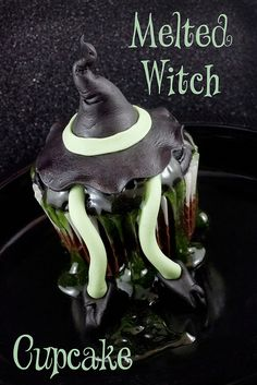Melted Witch Cupcake