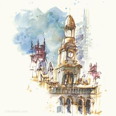 LizSteel-Sabbatical-Sketches-04-TownHall