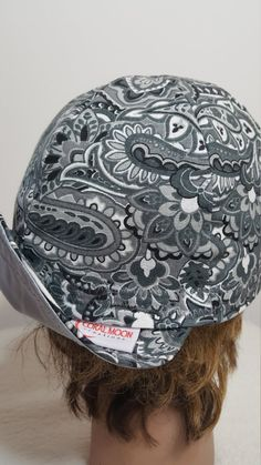 Hey, I found this really awesome Etsy listing at https://www.etsy.com/listing/263040707/womens-hat-girls-hat-welding-cap-paisley