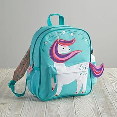 How adorable is this Wild Side Backpack (Pony) from The Land of Nod? So whimsical and fun for back-to-school!