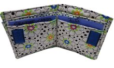 Wallet for Travel in Black and White Floral by Sieberdesigns