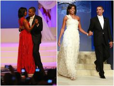 Michelle Obama chose the same designer, Jason Wu, to create her second inaugural gown as created the first. Description from articles.latimes.com. I searched for this on bing.com/images