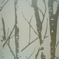 Woodland Collection ~ Aspen Wallpaper in Pearl