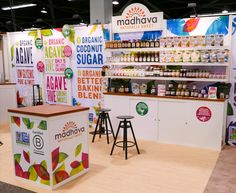 Natural food trade show booth designed and built by Condit