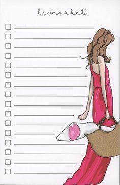 Sweet Caroline Designs Notepad // Shop now: http://sweetcarolinedesigns.com/shop/le-market-red-dress/