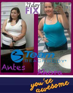 Progreso de Ilianete con 21 Days Fix!!!!  Ella está decidida a lograr su peso saludable, por su salud y su autoestima.... Y porque ella se lo merece!!!!  Y tu, cuando vas a empezar a cuidar tu salud, física y emocional!!!  Mas que llegar a tu meta, es la persona en la que te conviertes en el camino!!!   Si logras controlarte a ti misma, puedes lograr cualquier cosa que te propongas!!!!  Y solo toma 21 días adquirir un nuevo hábito!!!!  www.beachbodycoach.com/moninguadalupe