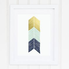 NAVY | MINT | Faux Gold Foil | Chevron | Herringbone | Tribal | Aztec | Nursery Art | Home Decor | Office Decor | Printable | Instant Download  This set of 3 herringbone chevrons in navy, mint and gold foil is the perfect addition to any nursery, kid's room, office, or any other room in your house. It works great as a stand alone piece or an addition to a gallery wall! After download, the art is ready to be printed and hung in your house within minutes!   By Perennial Cottage