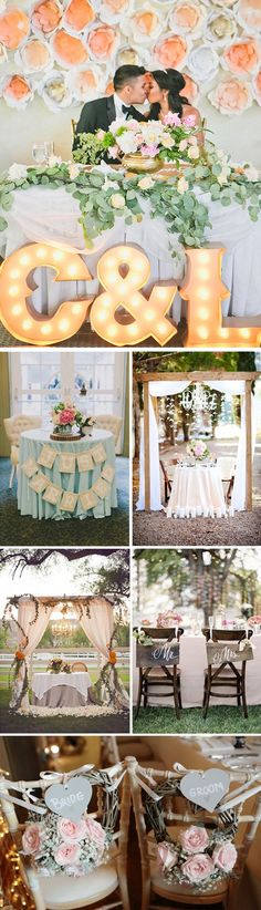 Ideas para decorar la mesa de los novios
